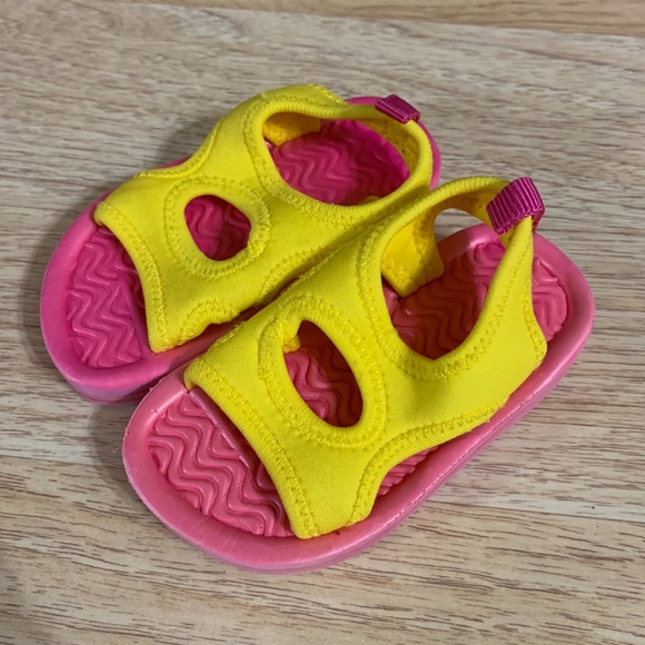 Children's Place Other - Children's Place Yellow and Pink Water Sandals